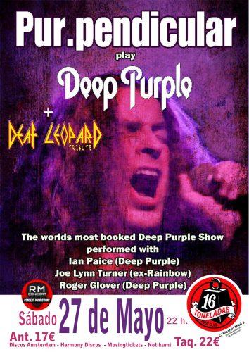 Pur.Pendicular plays Deep Purple & Def Leppard @ 16 Toneladas | València | Comunidad Valenciana | España