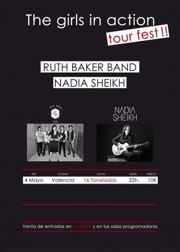 Ruth Baker Band + Nadia Sheikh @ 16 Toneladas | València | Comunidad Valenciana | España
