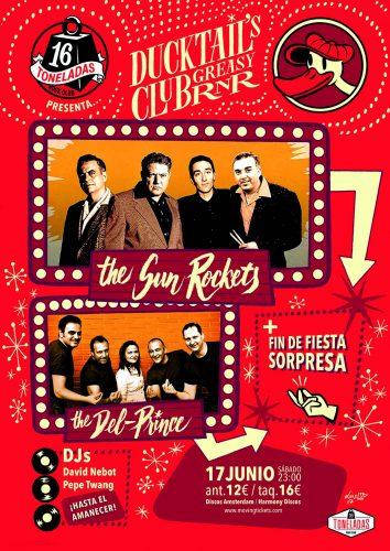 Ducktail's Greasy Club R'n'R (The Sun Rockets + Del Prince) + David Nebot Dj @ 16 Toneladas | València | Comunidad Valenciana | España