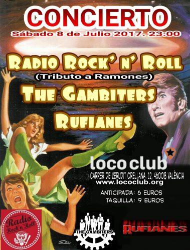 Radio Rock 'n' Roll (The Gambiters + Rufianes) @ El Loco Club | València | Comunidad Valenciana | España