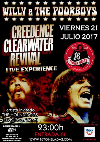 Willie & The Poor Boys (Creedence Clearwater Revival exp) @ 16 Toneladas | València | Comunidad Valenciana | España