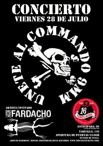 Commando 9MM + Licor de Fardacho @ 16 Toneladas | València | Comunidad Valenciana | España