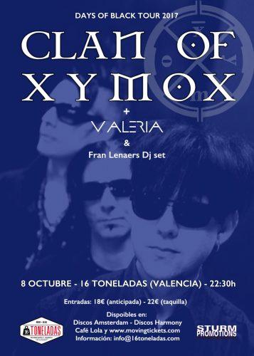Clan Of Xymox+ Valeria @ 16 Toneladas | València | Comunidad Valenciana | España