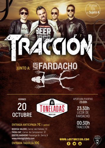 Tracción + Licor de Fardacho @ 16 Toneladas | València | Comunidad Valenciana | España