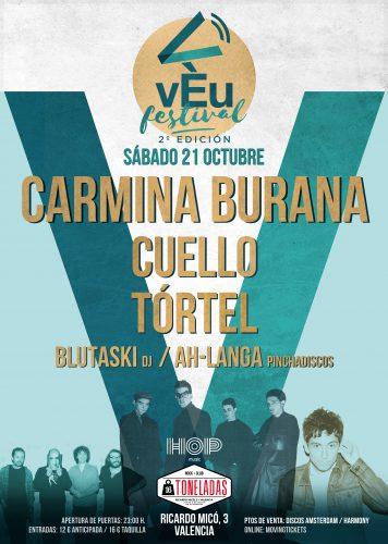 Vèu Festival (Carmina Burana + Cuello + Tórtel) @ 16 Toneladas | València | Comunidad Valenciana | España