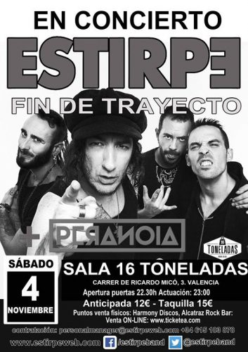 Estirpe + Peranoia @ 16 Toneladas | València | Comunidad Valenciana | España