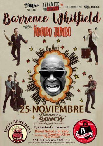 Barrence Withfield Meets Los Mambo Jambo + Robbie & The Savoy Rumblers @ 16 Toneladas | València | Comunidad Valenciana | España