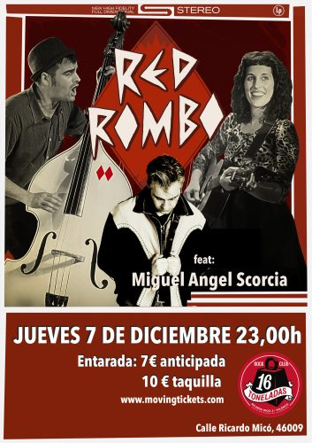 Red Rombo (Feat Miguel Angel Escorcia) @ 16 Toneladas | València | Comunidad Valenciana | España
