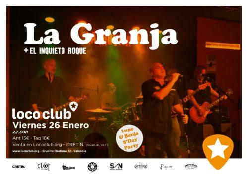 La Granja + El Inquieto Roque @ El Loco Club | València | Comunidad Valenciana | España