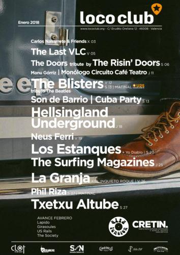 Programación Enero 2018 El Loco Club @ El Loco Club | València | Comunidad Valenciana | España