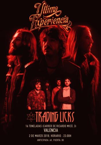 Ultima Experiencia + Trading Licks @ 16 Toneladas | València | Comunidad Valenciana | España