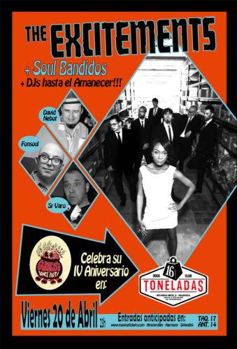 The Excitements + Soul Bandidos @ 16 Toneladas | València | Comunidad Valenciana | España