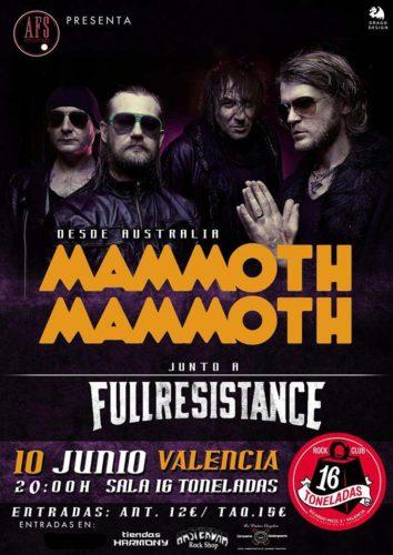 Mammoth Mammoth + Fullresistance @ 16 Toneladas | València | Comunidad Valenciana | España