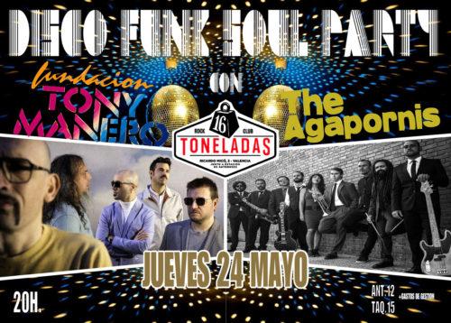 Disco Funk Soul Party (Fundación Tony Manero + The Agapornis @ 16 Toneladas | València | Comunidad Valenciana | España
