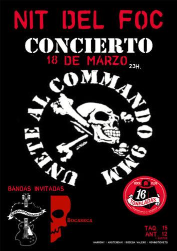 COMMANDO 9 MM + Latidos y Mordiscos (Trib. Barricada) + Bocaseca @ Sala 16 Toneladas