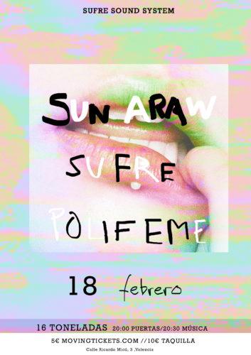 SUN ARAW + Sufre + Polifeme @ Sala 16 Toneladas