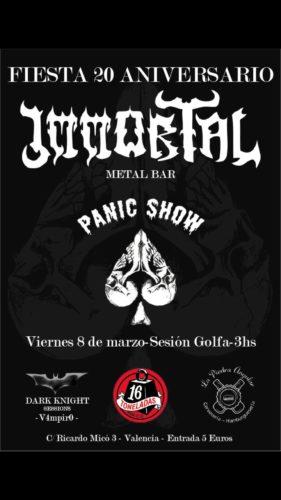 PANIC SHOW (Fiesta 20 Aniversario Bar Immortal) @ Sala 1 Toneladas