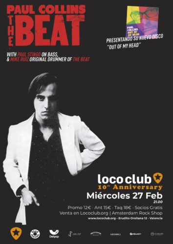 THE PAUL COLLINS BEAT @ Loco Club