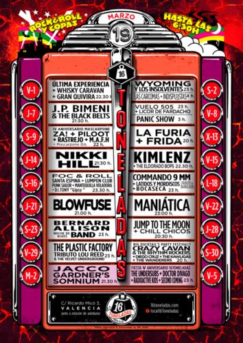 """Programacion Marzo """"16 Toneladas"""" @ Sala 16 Toneladas"""