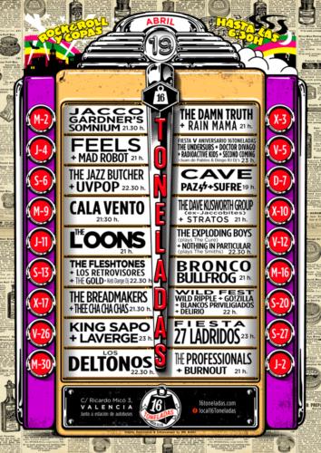 16 Toneladas - Programación ABRIL @ Sala 16 Toneladas
