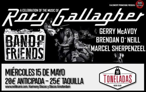 Band of Friends (Tributo Rory Gallagher) @ Sala 16  Toneladas