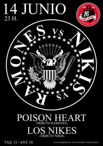 POISON HEART (Tributo Ramones) + THE NIKES (Trib. Los Nikis) @ Sala 16 Toneladas
