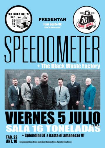SPEEDOMETER + Black Waste Factory + DJ Splendini @ Sala 16 Toneladas