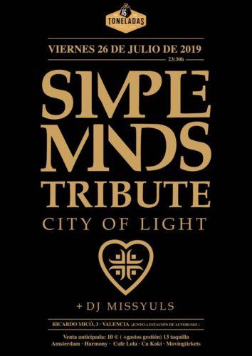 CITY OF LIGHT (Tributo Simple Minds) + DJ Missyuls @ Sala 16 Toneladas