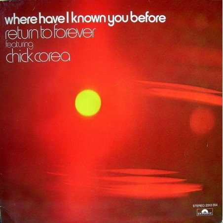 RETURN TO FOREVER FEAT. CHICK COREA - Where Have I Known You Before LP (Original)