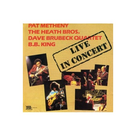 PAT METHENY, THE HEATH BROS, DAVE BRUBECK QUARTET, B.B. KING - Live In Concert LP (Original)