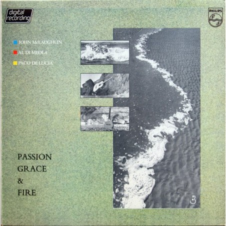 JOHN MCLAUGHLIN, AL DIMEOLA, PACO DE LUCIA - Passion, Grace & Fire LP (Original)