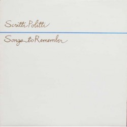 SCRITTI POLITTI - Songs To Remember LP (Original)